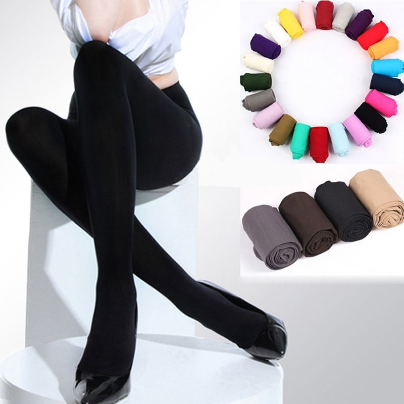 Women 120D Colorful Winter Warm Thick Pantyhose Socks Tights Hosiery Stockings