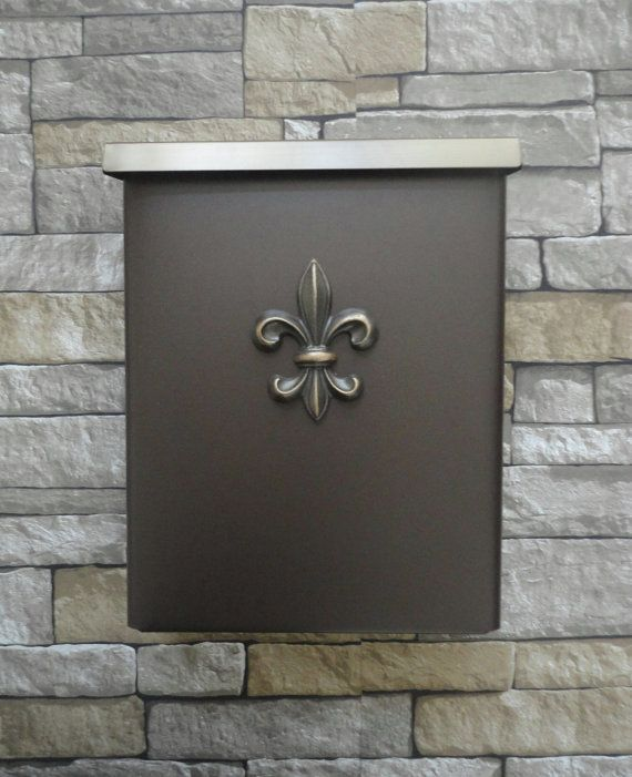This Listing Features Our Stunning And Sturdy Metal Locking Security Wall  Mounted Mailbox Embellished With Our Classic Fleur De Lis Shown Here In Our  ...