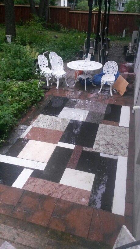 Patio made of granite off-cuts! | granite offcut ideas in