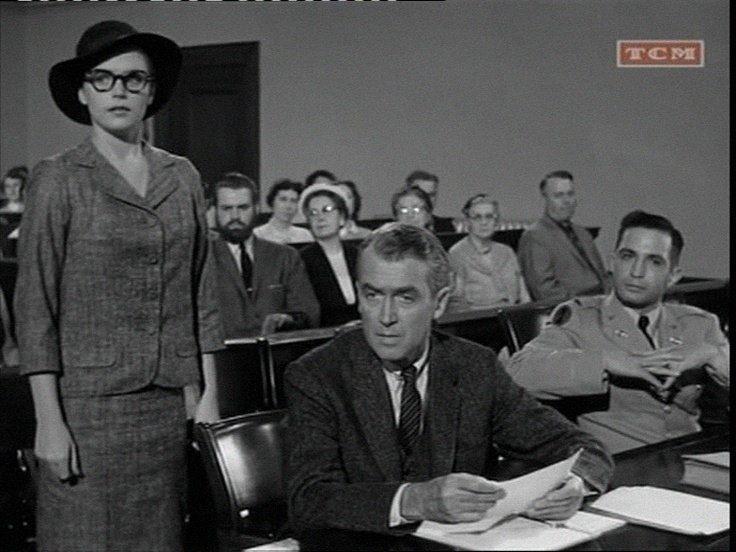 Anatomy of a Murder 1959 Lee Remick James Stewart and Ben Gassara ...
