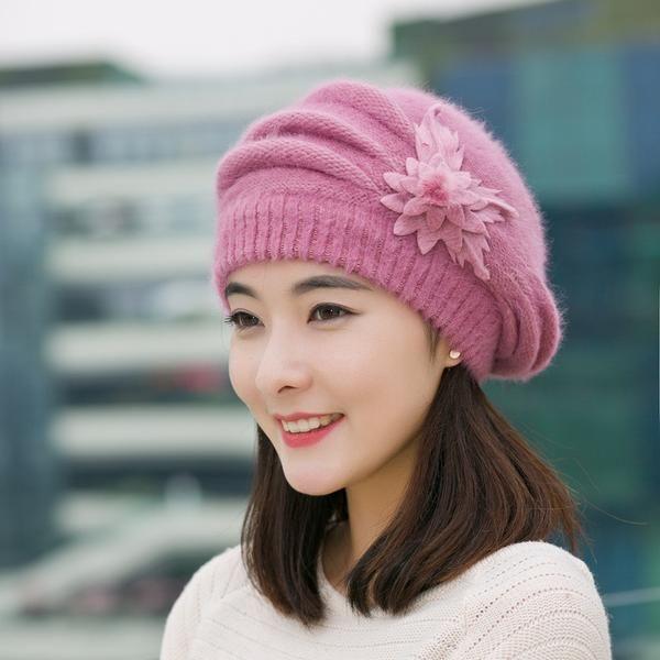 85c703a3d36 Winter Hats for Women Casual Skullies Beanies Solid Cotton Cap