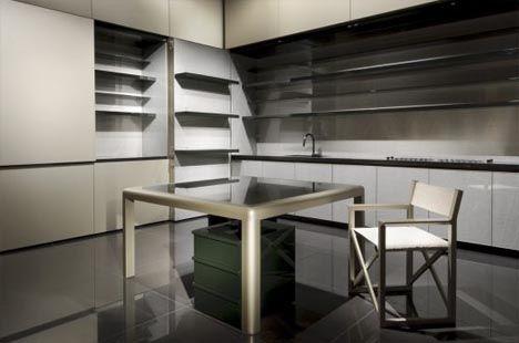 Hidden Room: Fold-Up Luxury Kitchen Interior Design