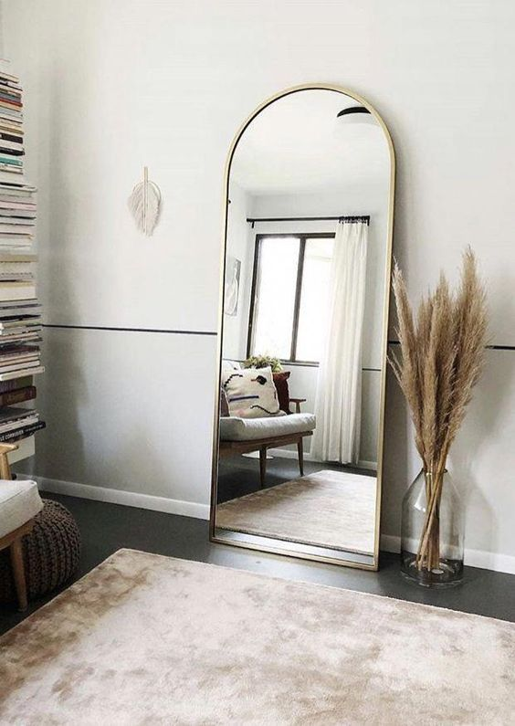 Leaning Mirror in Bedroom - 9 Tricks To Make A Small Bedroom Look & Feel Larger - Chloe Dominik