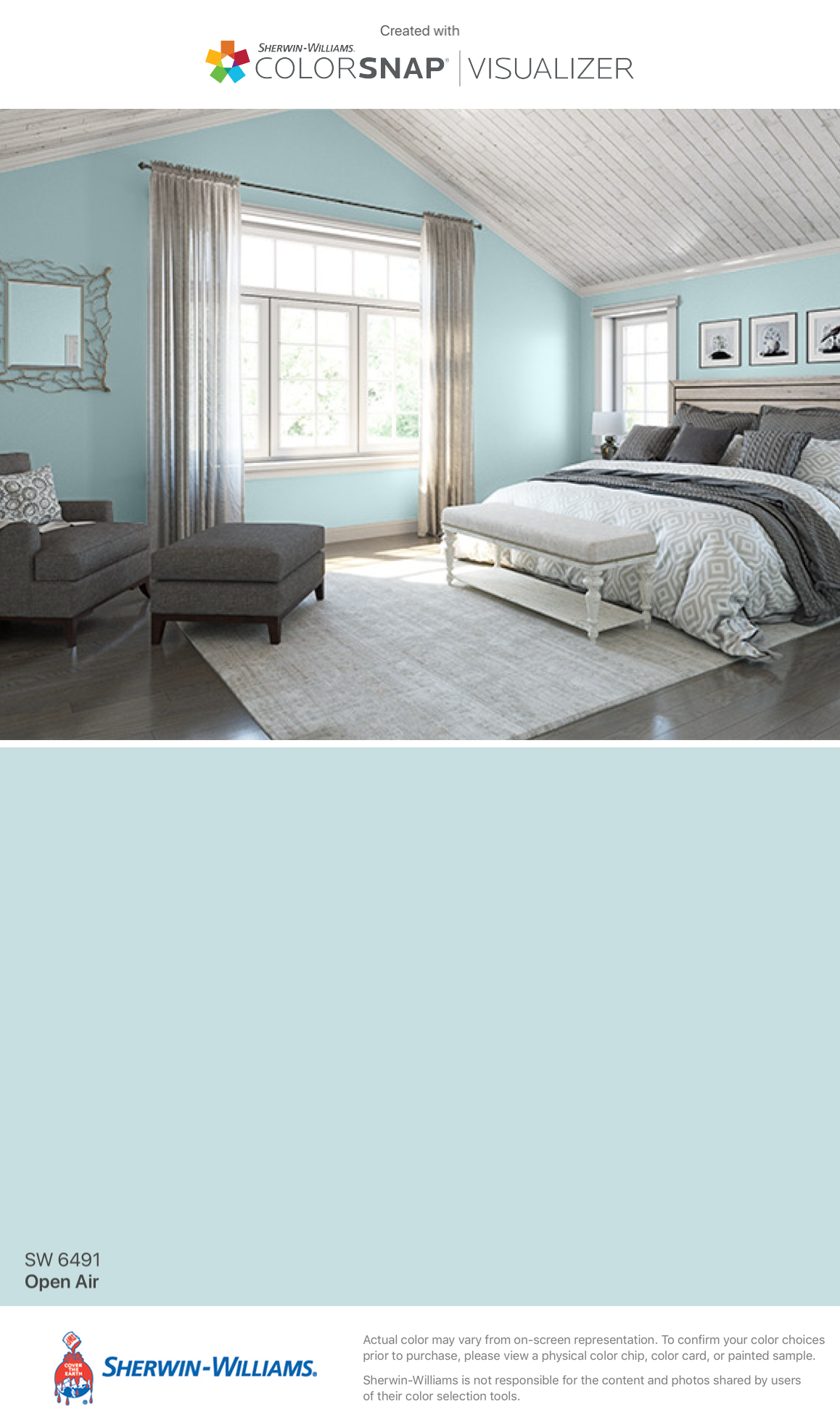 I Found This Color With Colorsnap Visualizer For Iphone By Sherwin Williams Open Air Sw 6491 Bedroom Colors Master Bedroom Paint Bedroom Paint Colors