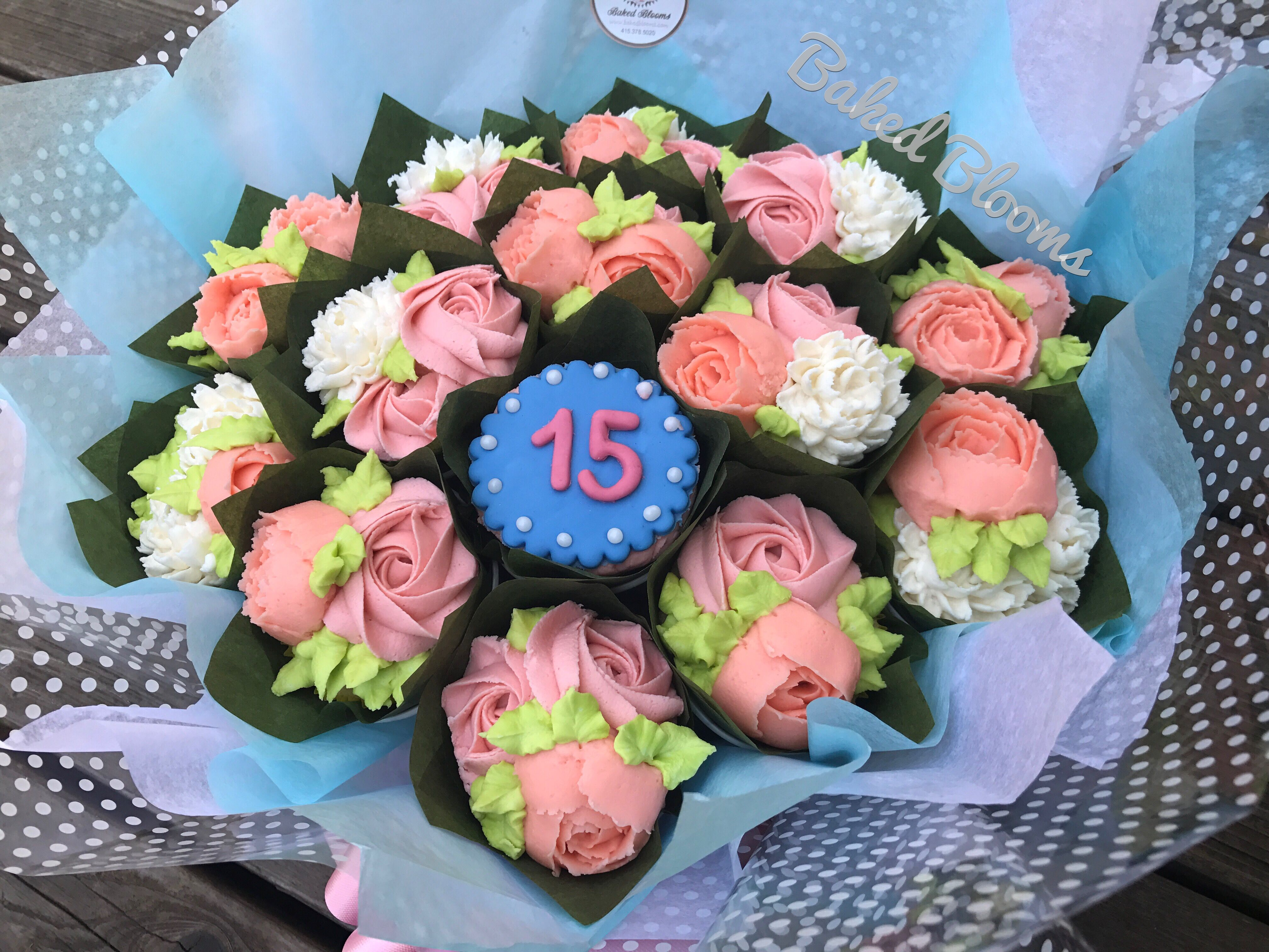 15th birthday bouquet www.bakedblooms.com | Baked Blooms | Pinterest ...