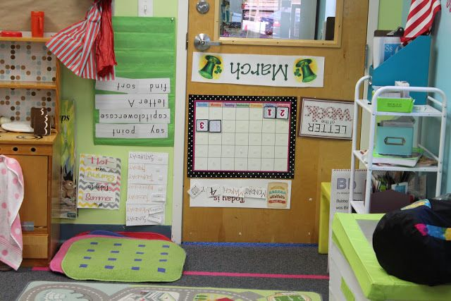 Sneaky leprechaun turned our circle time area upside down, literally! Have the students log their leprechaun evidence on an evidence board (also on this blog)