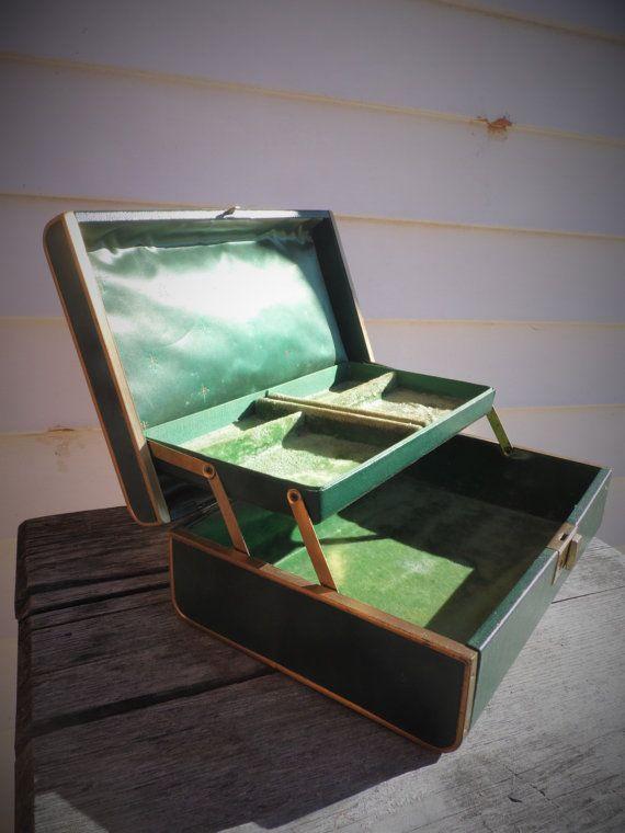 Jewelry Box Farrington Jewelry Box Vintage by OldSteamerTrunkJunk