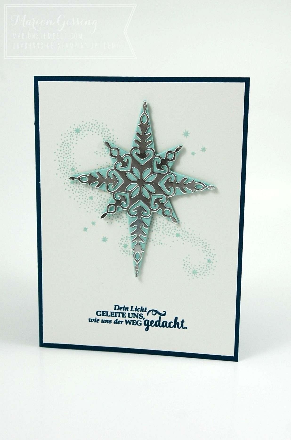 Stampin 39 up weihnachtsstern star of light - Pinterest weihnachtskarten ...