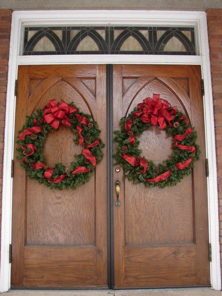 Xmas Wreath Church Doors Xmas Wreaths Xmas Wreaths