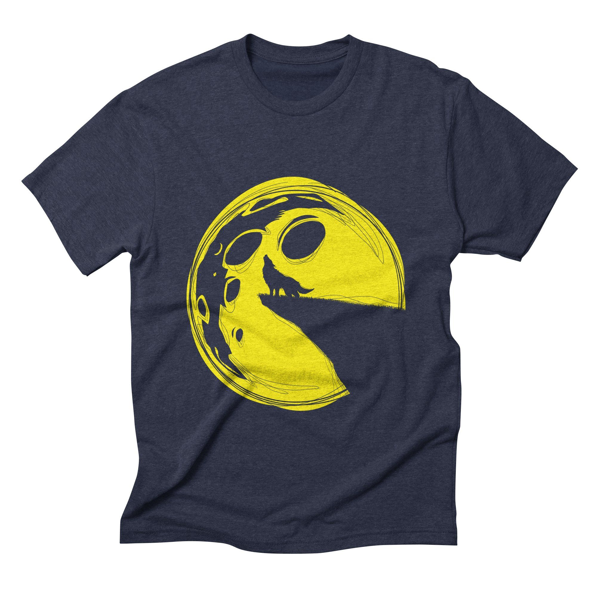 pacmoon mens triblend-t-shirt in navy
