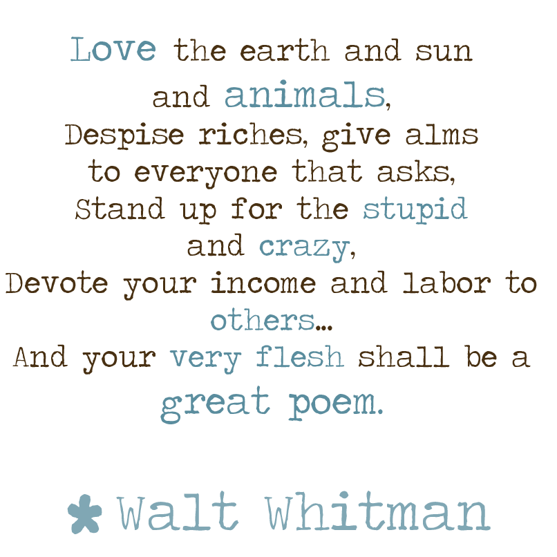 analysis of walt whitman poetry Stranger, if you passing meet me and desire to speak to me, why should you not speak to me / and why should i not speak to you -walt whitman.