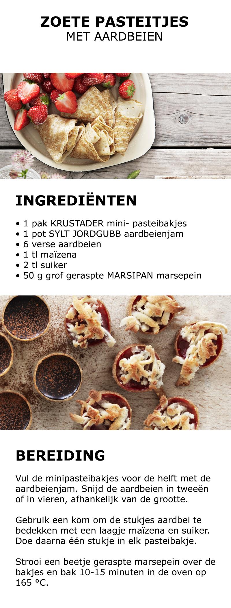 inspiratie voor midsommar zoete pasteitjes met aardbeien