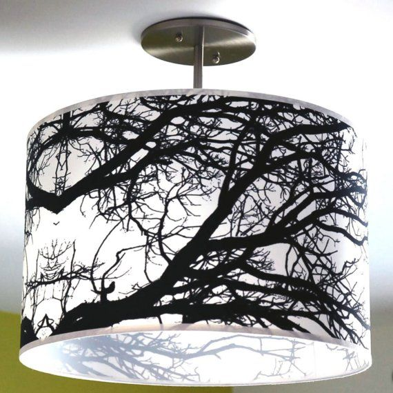 A beautiful graphic lampshade