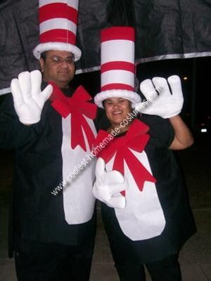 Coolest Homemade Cat In The Hat Costume Idea Halloween Costumes
