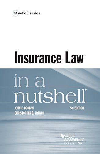 Insurance Law In A Nutshell Law Books Oil Gas In A Nutshell