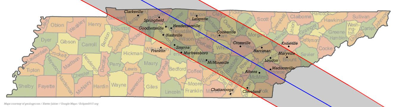 Total Solar Eclipse 2017 Communities In Tennessee Events