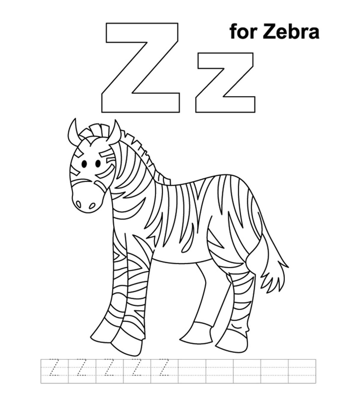 Top 10 Letter Z Coloring Pages Your Toddler Will Love To Learn Color Zebra Coloring Pages Animal Alphabet Letters Color Worksheets