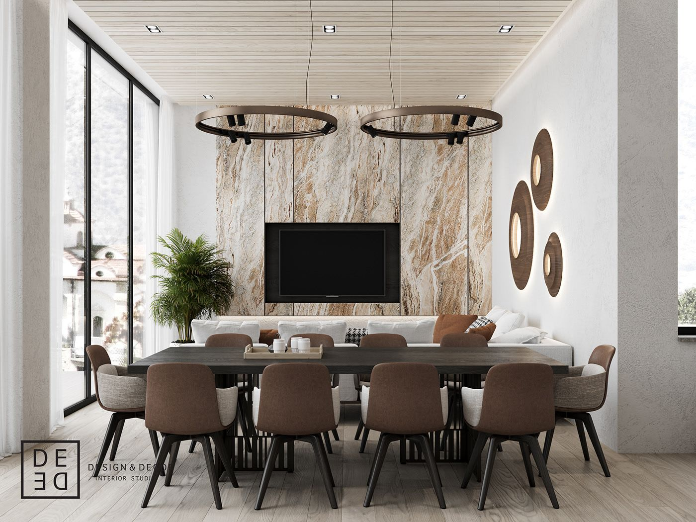 De De Villa On Cyprus First Floor On Behance Office Interior