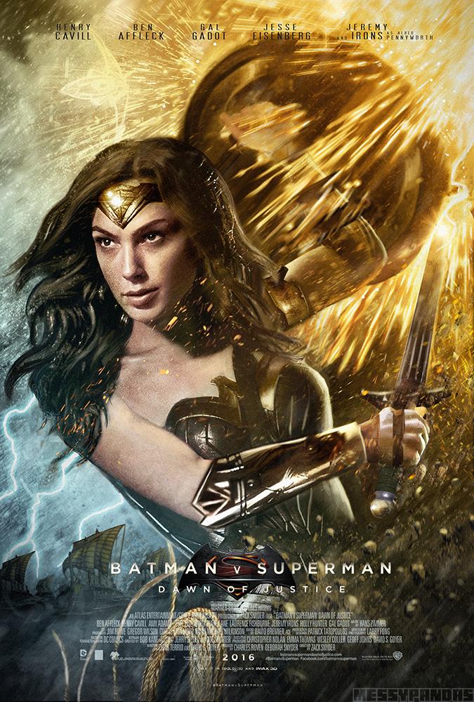 Batman V Superman Poster - Wonder Woman Z Messypandas On-2958