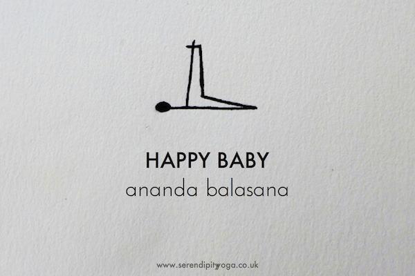 Happy Baby Ananda Balasana Yoga Stick Figures How To Do Yoga Baby Yoga