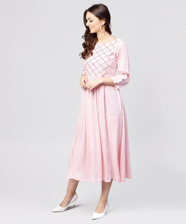 Women S Viscose Rayon Maxi Dress In Pink In 2021 Embellished Dress Maxi Dress Dresses [ 1440 x 1200 Pixel ]