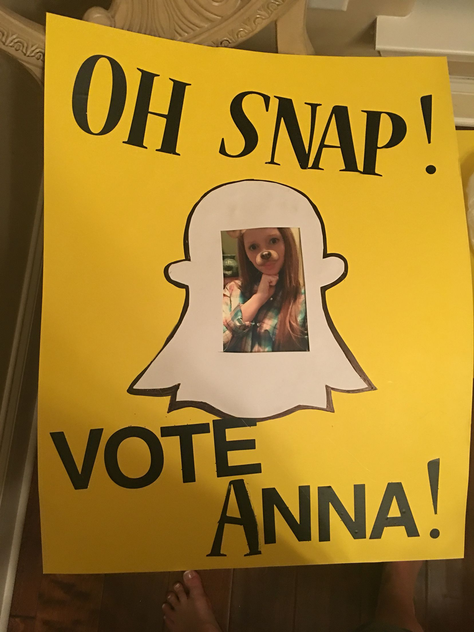 I think I might do this for student council poster give me any ...