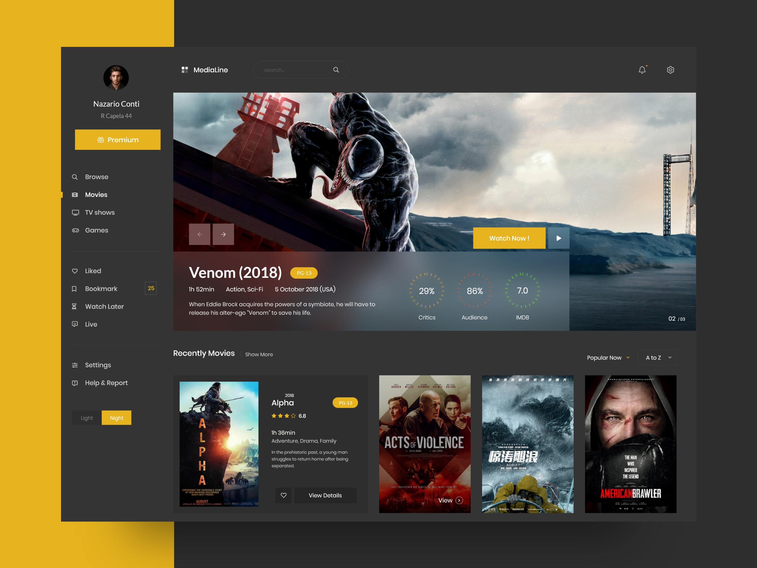 Watch Movie Website Design Web Design Examples Design