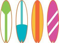free sports surfing clipart clip art pictures graphics rh pinterest ca surfboard clipart transparent surfboard clipart free