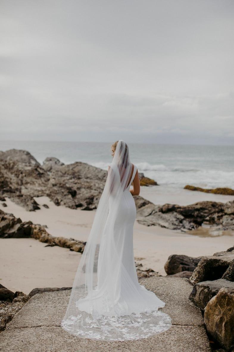 Stevie Veil Made With Love Unique Bridal Veil Modern Bride Cathedral Length Veil