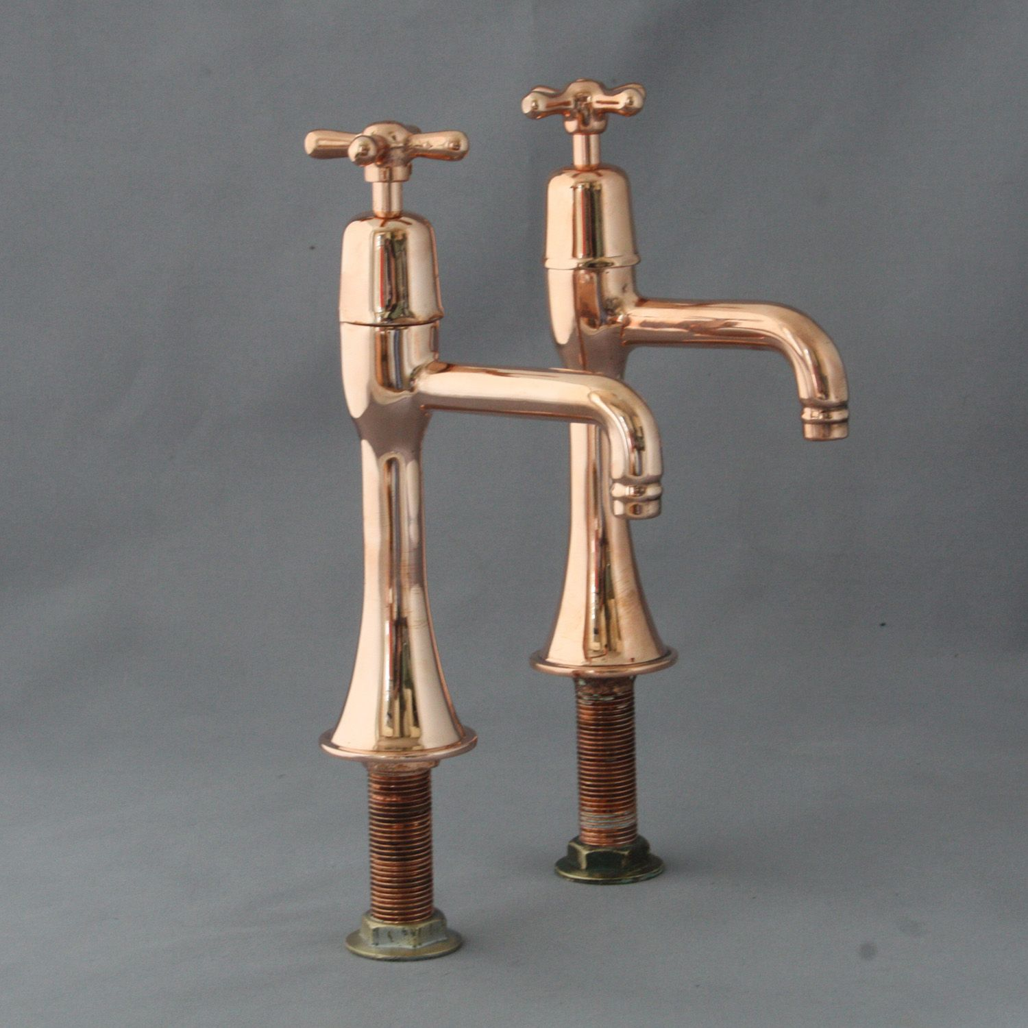 Shanks sink and stand reclaimed porcelain sinks and chrome stands - A Pair Of Vintage Copper Belfast Sink Taps