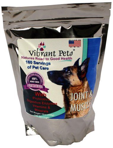 Vibrant Pets Joint And Muscle Diet Supplements 16 Ounce For More