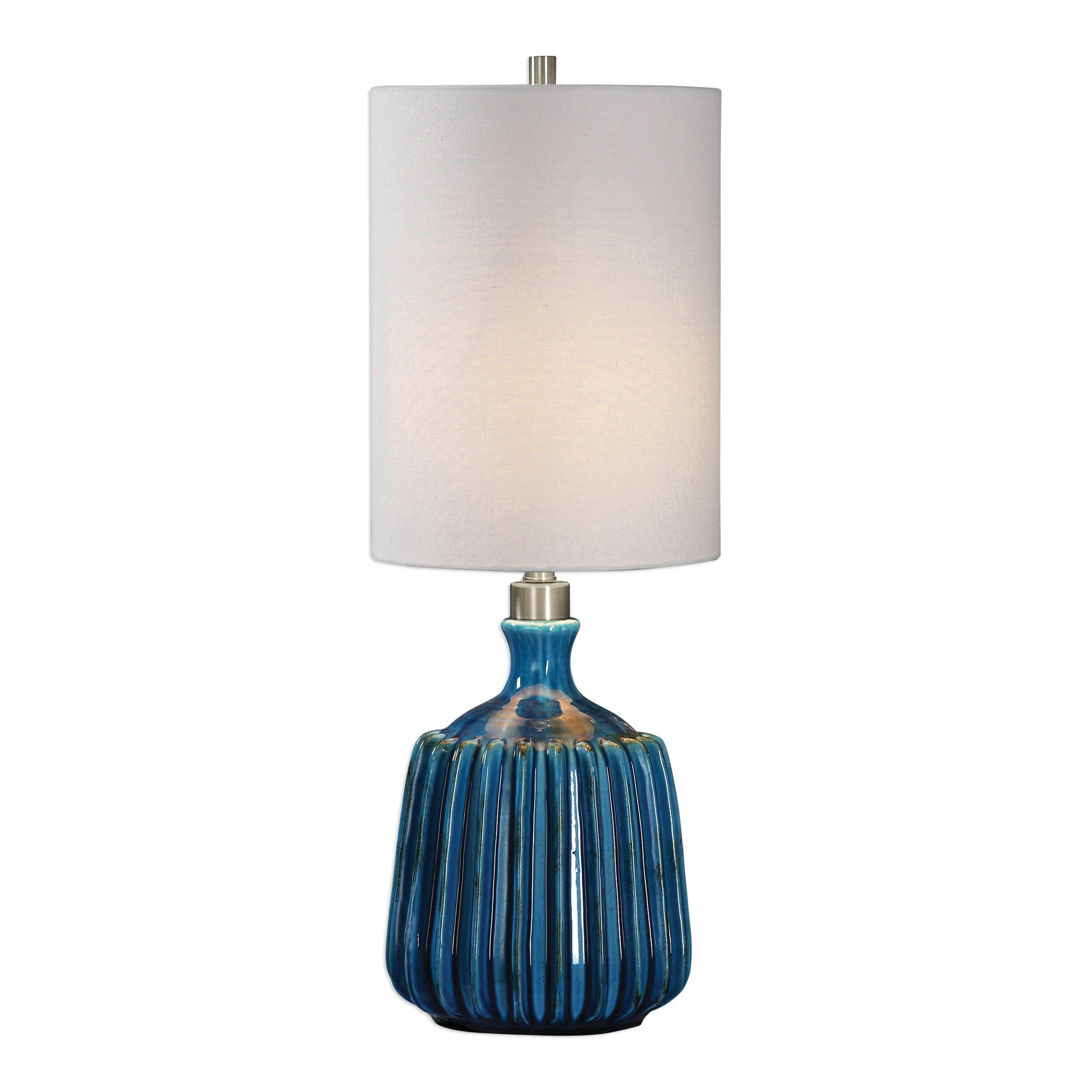 Amaris Blue Ceramic Lamp Painted Fox Home In 2020 Blue Ceramic Lamp Ceramic Lamp Lamp