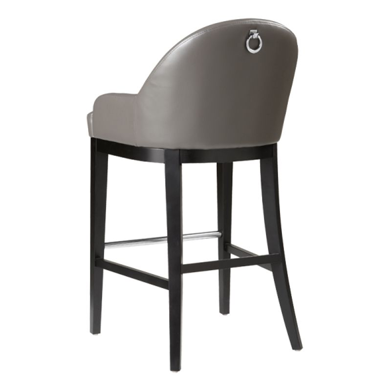 Haven Barstool Grey Furniture Leather Counter Stools