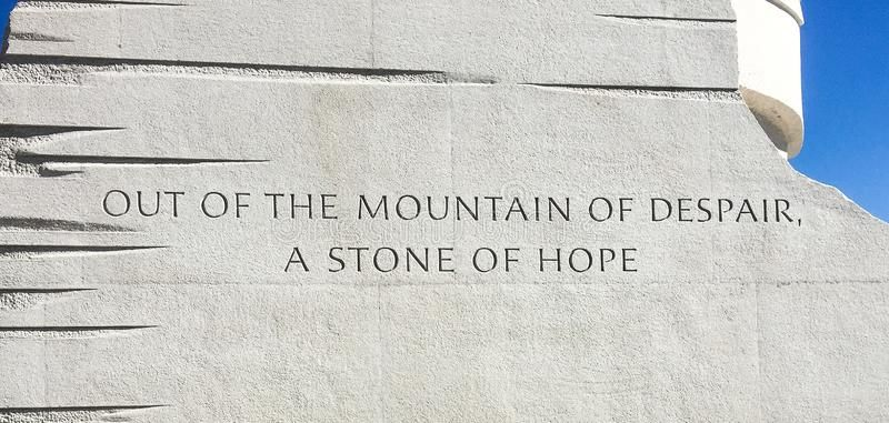 Famous MLK Jr Quote In Stone Editorial Image - Image of memorial, despair: 151209300