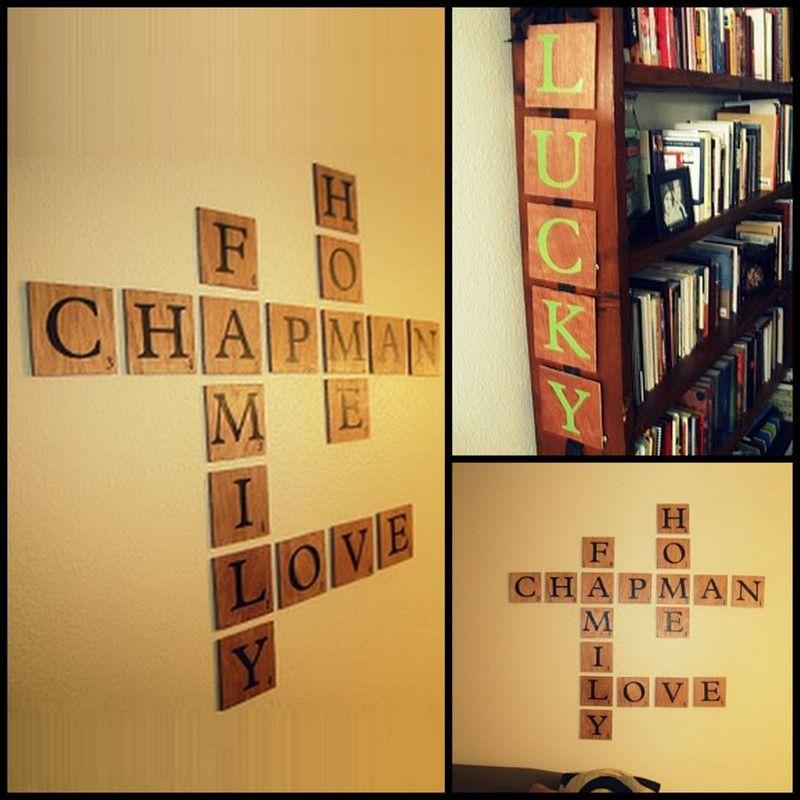 scrabble art   Cowie\'s Craft & Cooking Corner: DIY Scrabble Wall Art ...