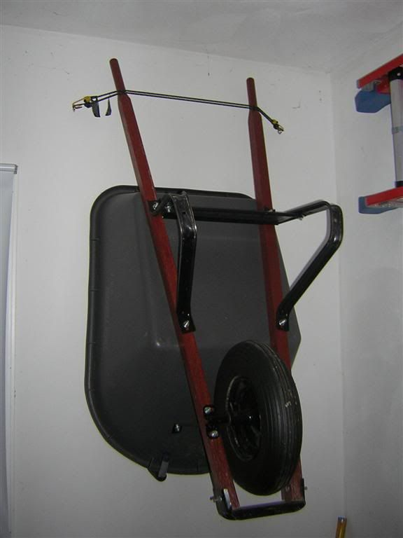 My Solution To Wheelbarrow Storage The Garage Journal Board