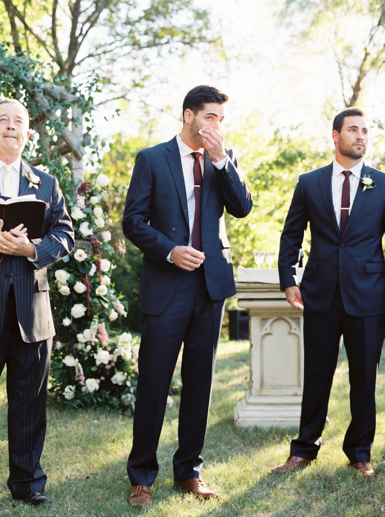 Classic Burgundy + Navy Fall Wedding Navy fall weddings
