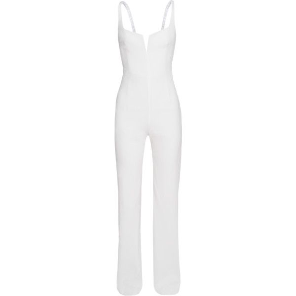 GALVAN LONDON Waisted Corsage White // Waisted cut jumpsuit (17.528.630 IDR) ❤ liked on Polyvore