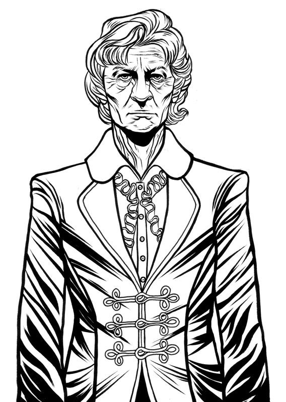 Succulent Sketchings 3rd Doctor Coloring Books Dr Who Coloring Pages