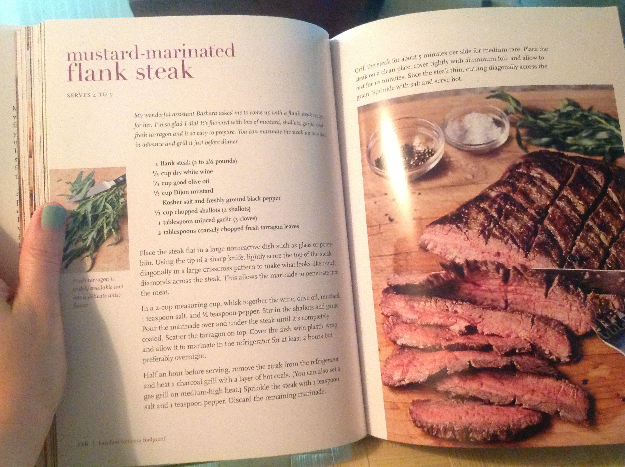 mustard marinated flank steak. ina garten. | main dish - beef