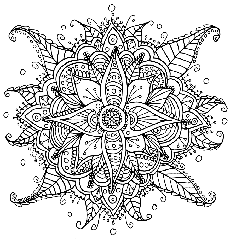 I Create Coloring Mandalas And Give Them Away For Free | Bored panda ...
