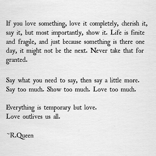 <3 <3 h e a r t s t r i n g s | Love this quote by R. Queen x x