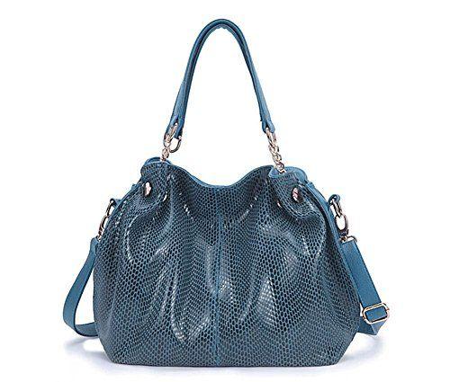 KISS GOLD Women's Glossy Leather Snake Skin Style Shoulder Bag Handbag (Blue) KISS GOLD http://www.amazon.com/dp/B00M8T220C/ref=cm_sw_r_pi_dp_m.fcub0W6000X