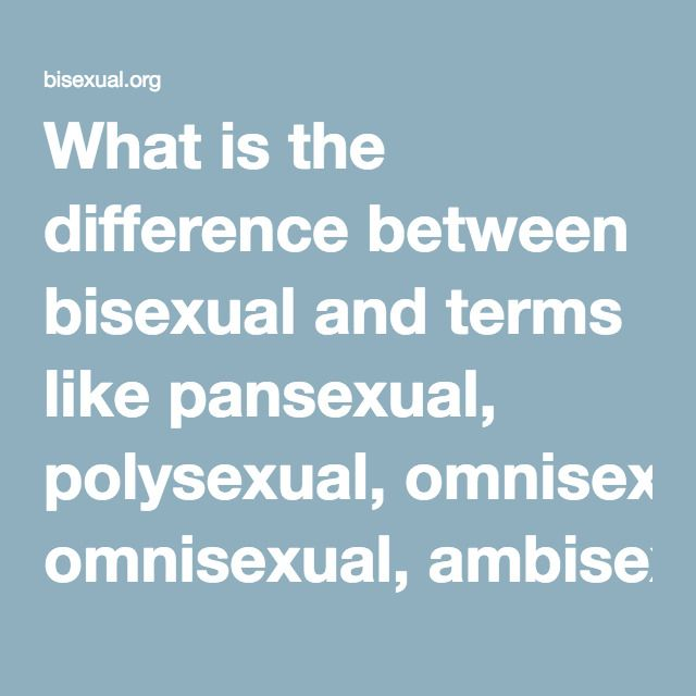 Difference between bisexual and omnisexual