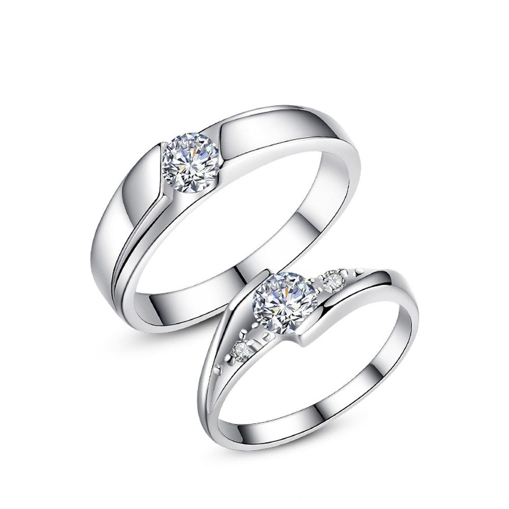 Friendship rings Sterling silver 925 Women/'s ring with Zirconia stone Partner rings Engagement rings Wedding rings in silver