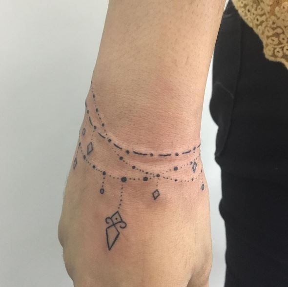 Image Result For Cuff Tattoos For Women: Image Result For Bracelet Tattoos On Wrist