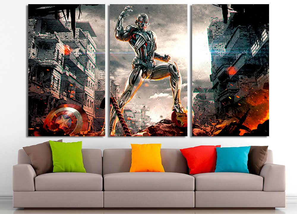 Supervillain, Marvel Art, Supervillain Canvas, Marvel Wall Art, Marvel Home  Decor,