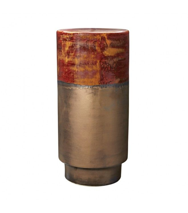 Gold U0026 Rustic Copper Tall Ceramic Stool