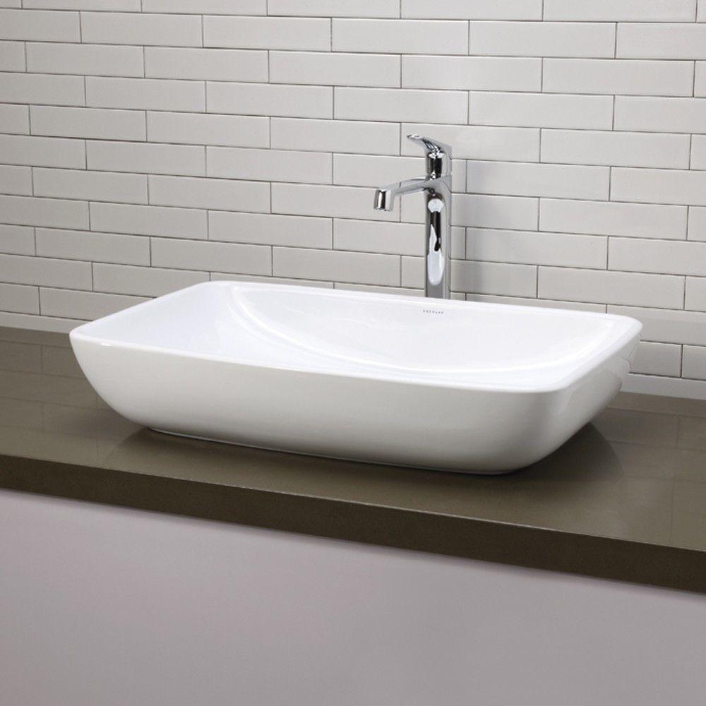 Jasmine Classically Redefined Ceramic Rectangular Vessel Bathroom