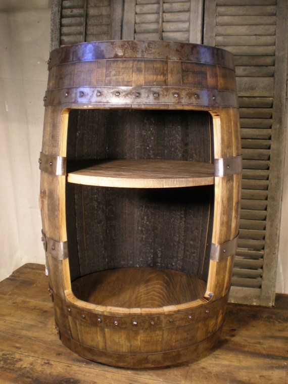 Whiskey Barrel Liquor Cabinet Bar By Vinetrotique On